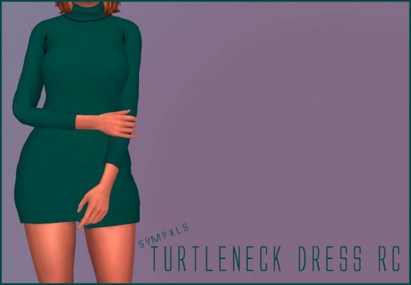 Simsworkshop: Sympxls Turtleneck Dress