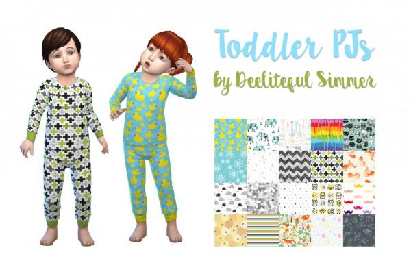 Deelitefulsimmer: Toddlers pajamas