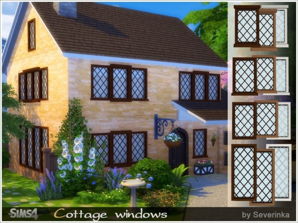 The Sims Resource: Cottage windows by Severinka