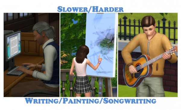Mod The Sims: Slower/Harder Writing, Painting, Songwriting by LittleMsSam
