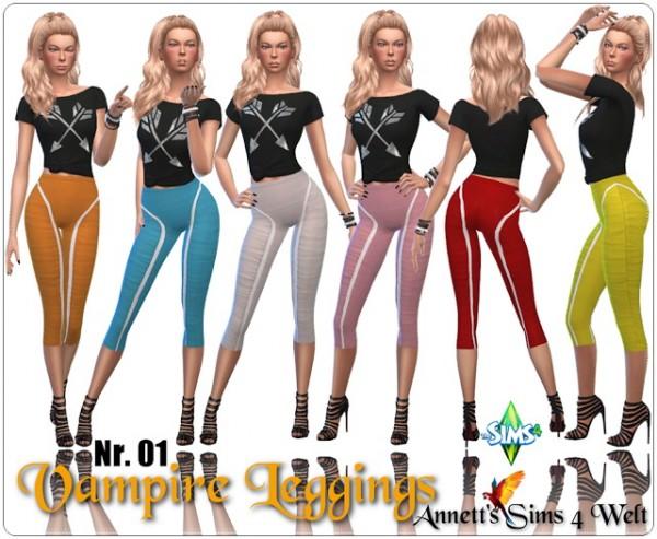 Annett`s Sims 4 Welt: Vampire Leggings Nr. 01