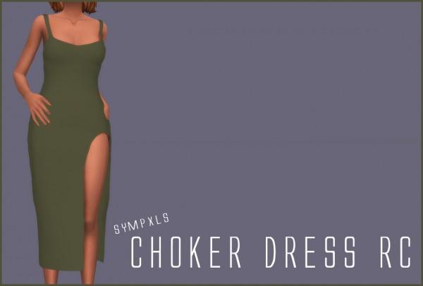 Simsworkshop: Sympxls Choker Dress