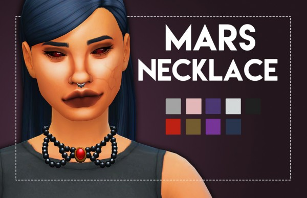 Simsworkshop: Mars Necklace by Weepingsimmer