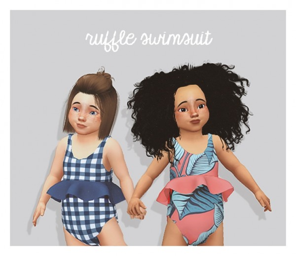 Pure Sims: Ruffle swimsuit