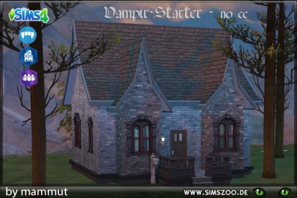 Blackys Sims 4 Zoo: Bare vampire villa by mammut