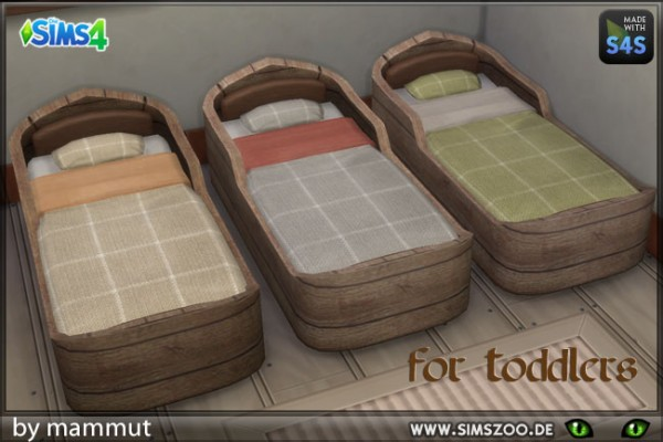Blackys Sims 4 Zoo Toddlers Bed By Mammut Sims 4 Downloads