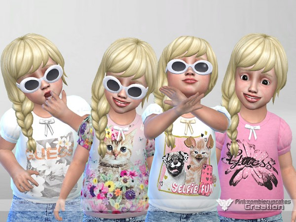 The Sims Resource: Sweet Fun Toddler Casual Collection by Pinkzombiecupcake