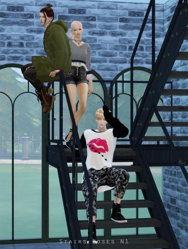 Kiru: Stairs Poses N1