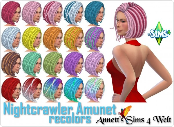 Annett`s Sims 4 Welt: Nightcrawler Amunet   Recolors