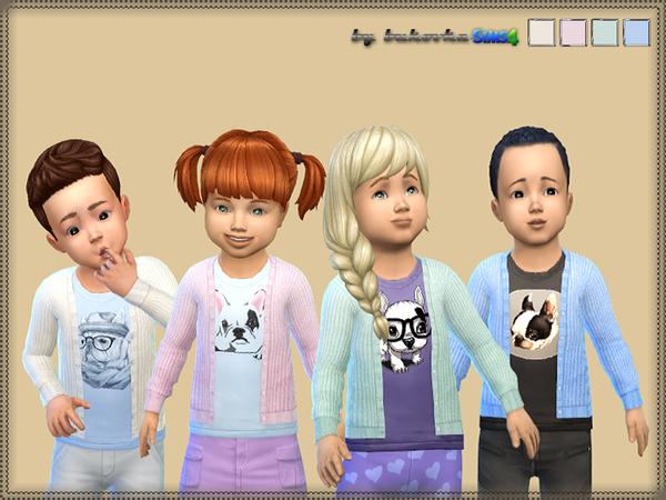 The Sims Resource: Knitted Jacket Bulldog by bukovka