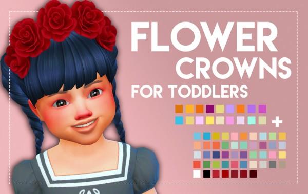Simsworkshop: Flower Crown   For Toddlers by Weepingsimmer