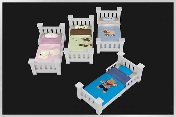 Blackys Sims 4 Zoo: Childrens bed classic by weckermaus