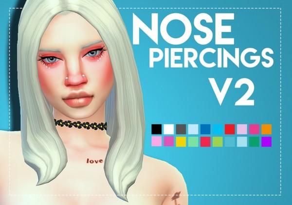 Simsworkshop: Nose Piercings V2 by Weepingsimmer