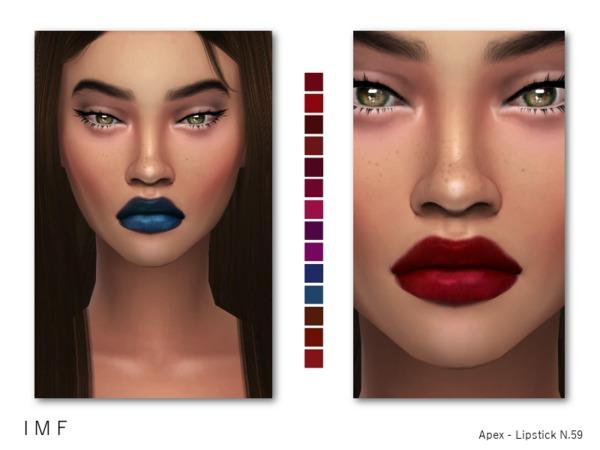 The Sims Resource: IMF Apex Lipstick N.59 by IzzieMcFire
