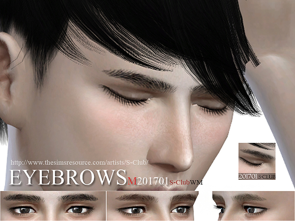 The Sims Resource: Eyebrows M 201701 by S Club