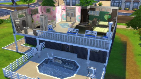 Mod The Sims: Lovely Drive house No CC by PIGSbff