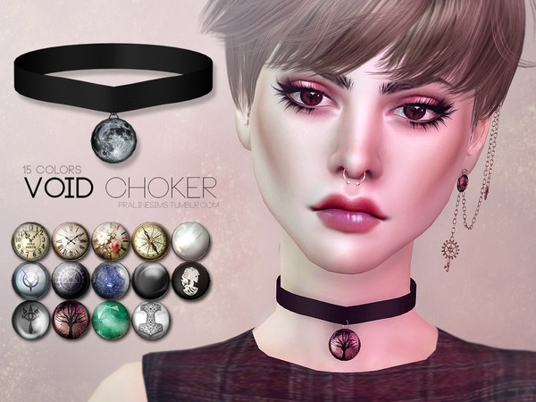 The Sims Resource: Void Choker by Pralinesims