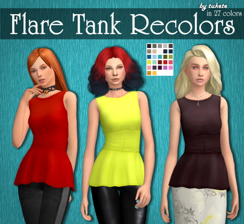 Tukete: Vampires Flare Tank
