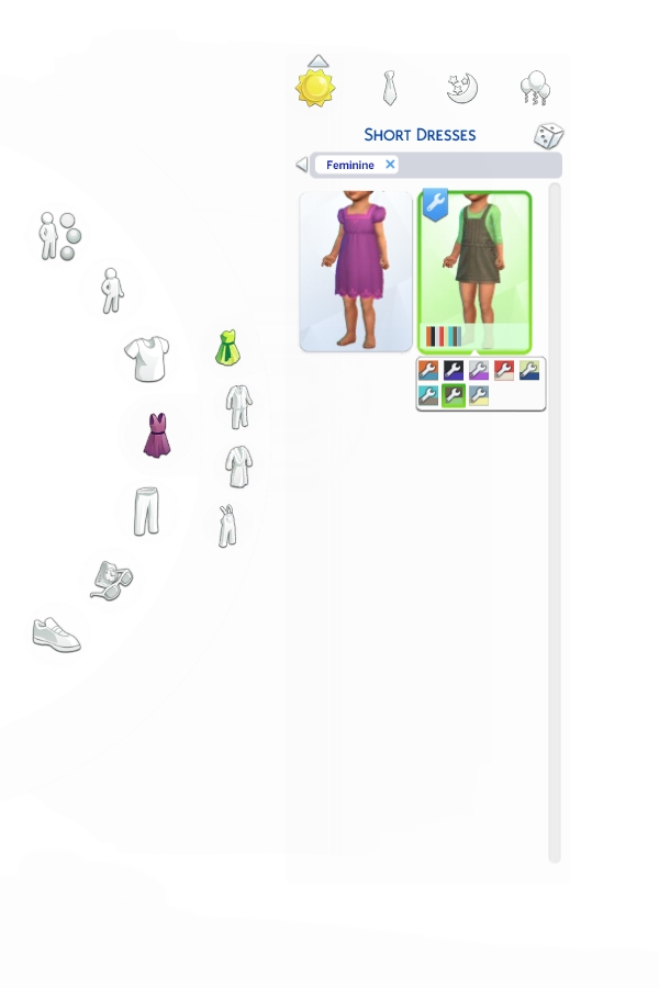 Mod The Sims: Overall Dress for Toddlers by VentusMatt