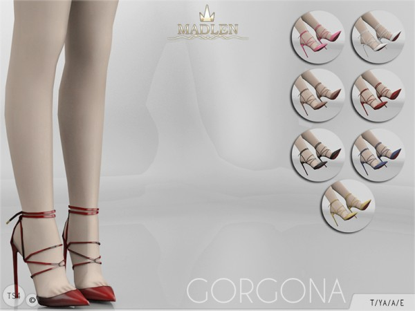 The Sims Resource: Madlen Gorgona Shoes by MJ95