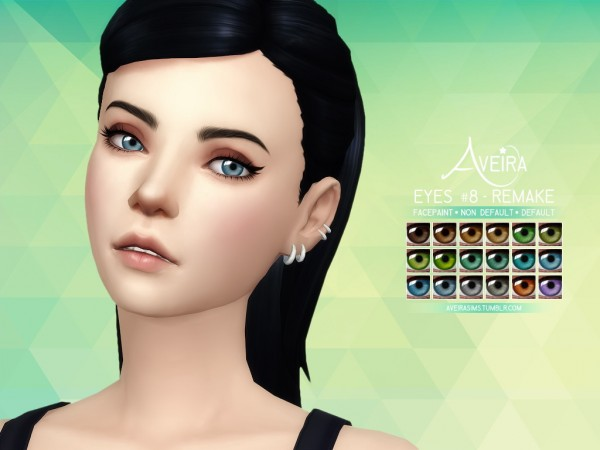Aveira Sims 4: Eyes 8   Remake