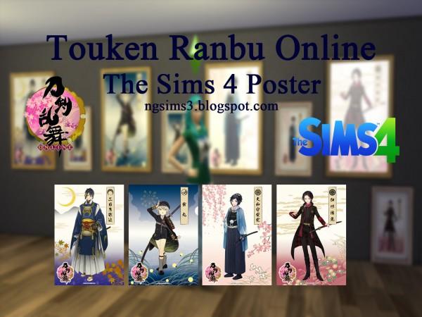 NG Sims 3: Touken Ranbu Online Poster