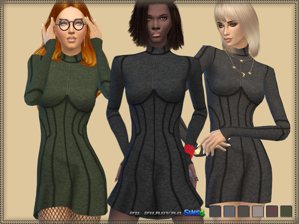 The Sims Resource: Dress Corset Relief by bukovka