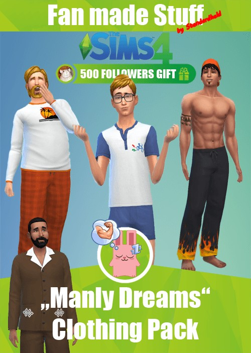 Simsworkshop: Manly Dreams Clothing pack by Standardheld