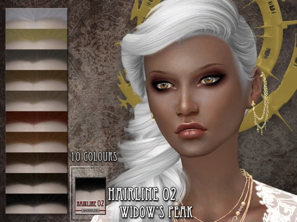 The Sims Resource: Hairline 02   Widows Peak by RemusSirion