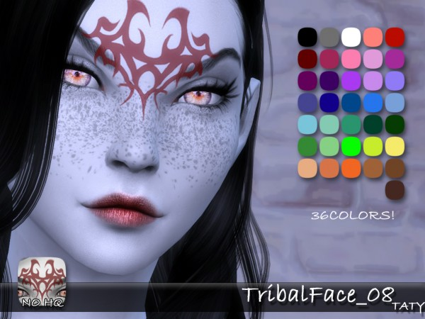 Simsworkshop: Tribal Face 08 by Taty