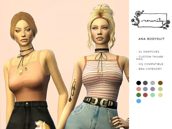 The Sims Resource: Ana Bodysuit by serenity cc