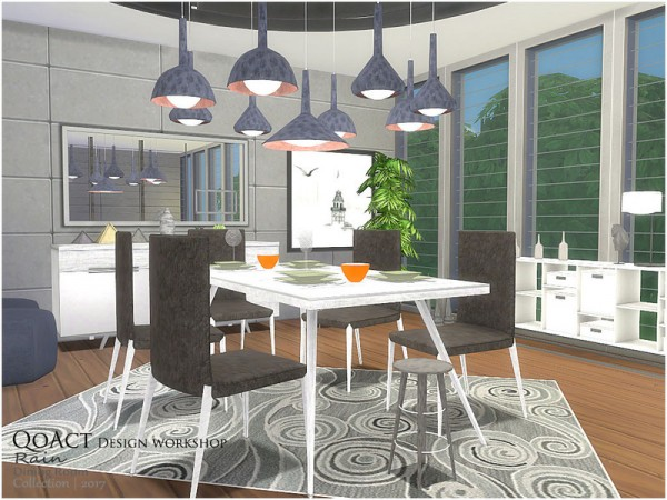 The sims resource rain dining room by qoact sims 4 for Dining room ideas sims 4