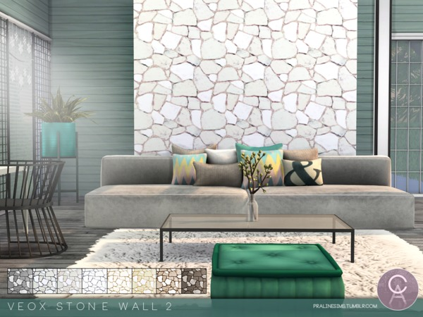 The Sims Resource: VEOX Stone Wall 2 by Pralinesims
