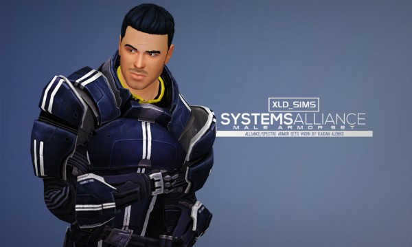 Simsworkshop Xld Sims Mass Effect Armor Kaidan Systems