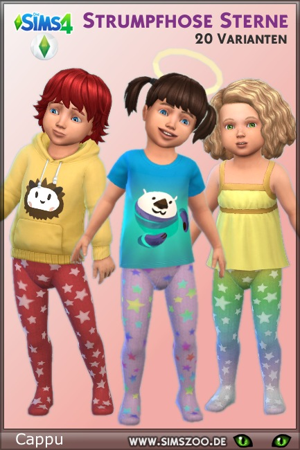 Blackys Sims 4 Zoo: Tights star for toddlers by Cappu