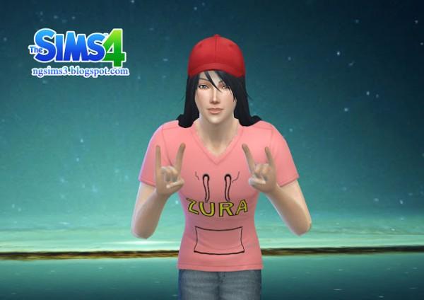 NG Sims 3: Zura T Shirt