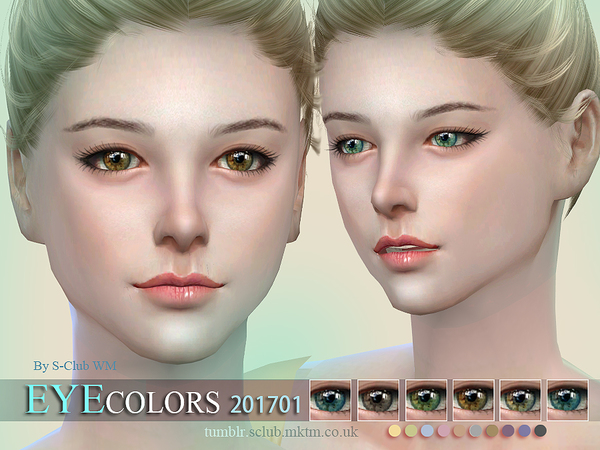 The Sims Resource: Eyecolors 201701 by S club