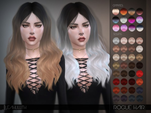 The Sims Resource Leahlillith S Rogue Hair Sims 4 Downloads