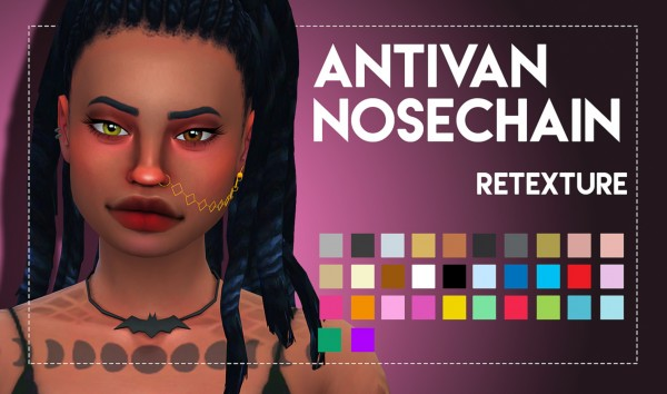 Simsworkshop: Antivan Nosechain Maxis Matched by Weepingsimmer