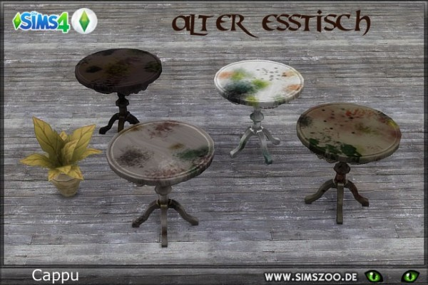 Blackys Sims 4 Zoo: Old dining table by Cappu