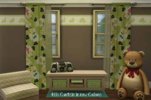 Chillis Sims: RC Kids Curtain