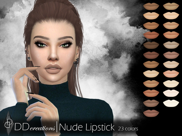 The Sims Resource: DD Nude Lipstick by ddcreations