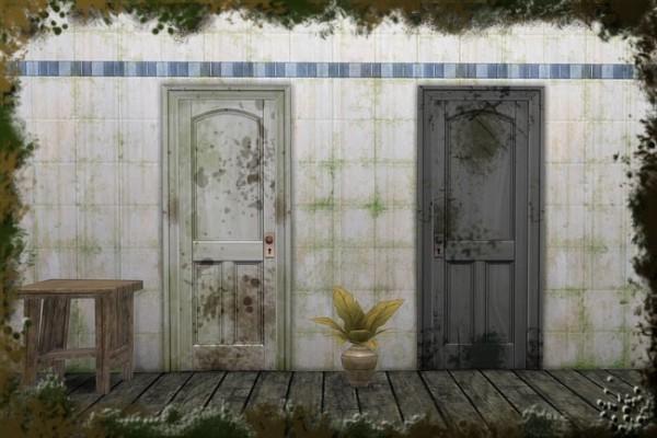Blackys Sims 4 Zoo: Shabby door by Cappu