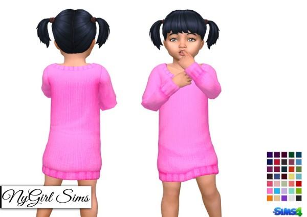 NY Girl Sims: Ribbed Sweater Dress
