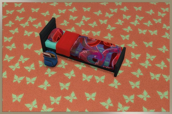 Blackys Sims 4 Zoo: Butterfly Colorful floor by cappu