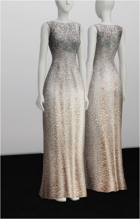 Rusty Nail: White silver sequined dress