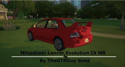 Lory Sims: Mitsubishi Lancer EVO IX MR by TheGTRGuy Sims