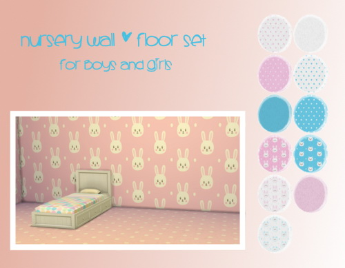 Chillis Sims: Nursery Wall and Floor Set