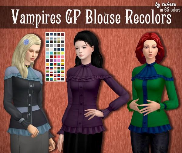 Tukete: Vampires GP Blouse Recolors