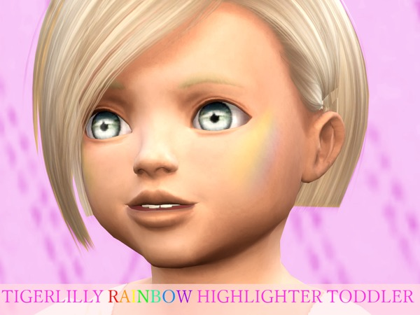 The Sims Resource: Rainbow Highlighter Toddler Version by tigerlillyyyy